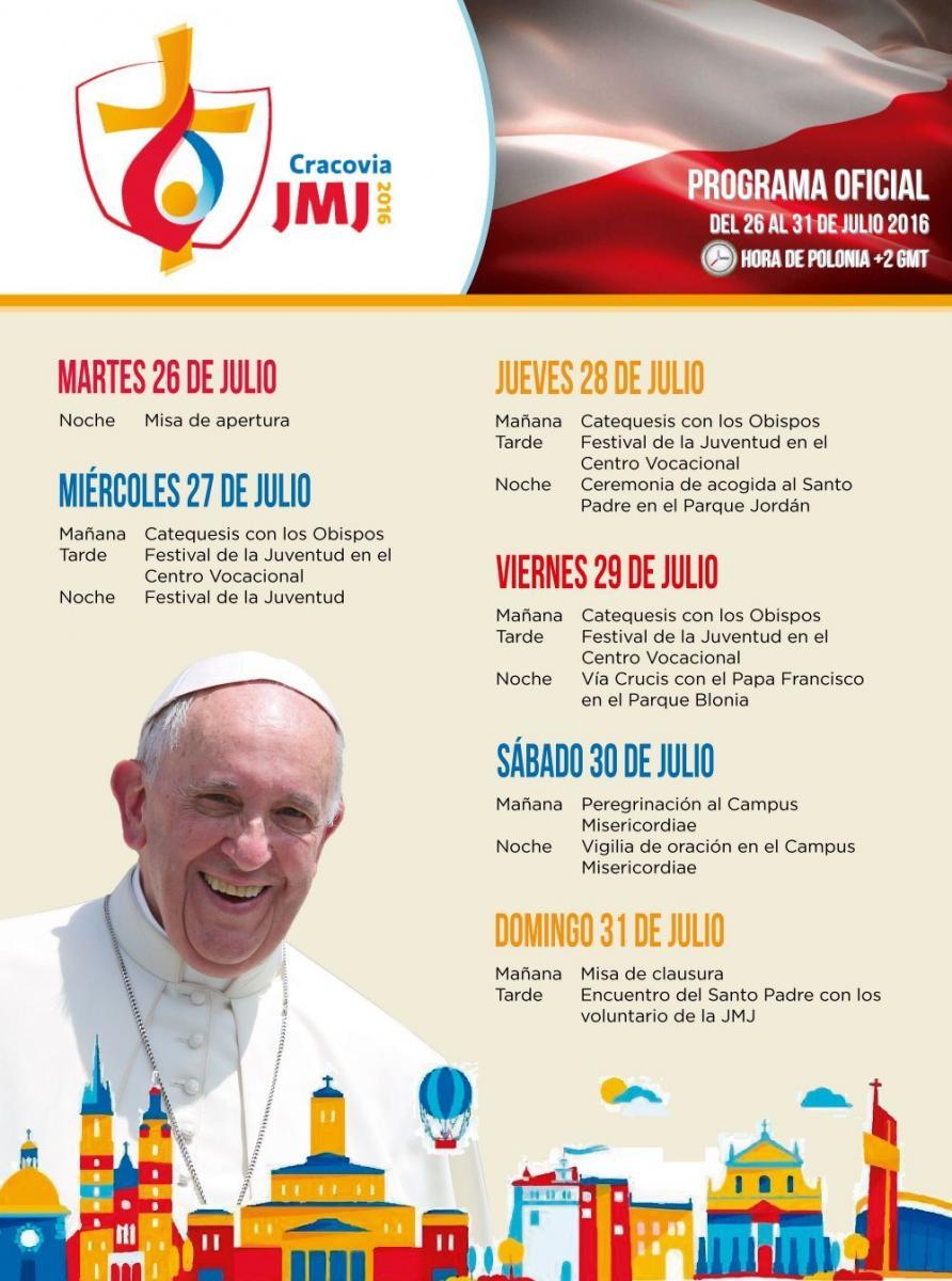 Programa oficial jornada mundial de la juventud cracovia for Noticias dela farandula internacional 2016