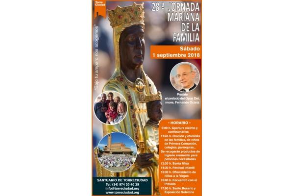 28 Jornada Mariana de la Familia. Sábado, 1 de Septiembre 2018