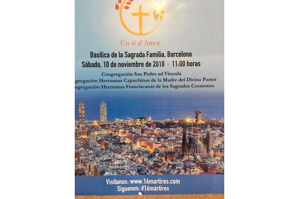 Beatificación de 16 mártires de la Cruzada. Barcelona, 10 de Noviembre 2018