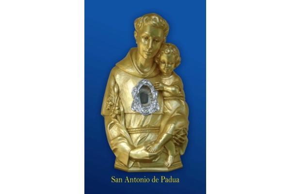 San Antonio de Padua. Busto-Relicario de San Antonio de Padua en España del 4 al 14 de Abril 2016