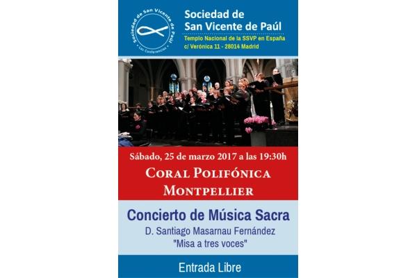 Concierto de Música Sacra. Coral Polifónica Montpellier. Santiago Masarnau Fernández