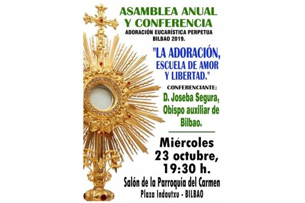Conferencia. Asamblea anual y Conferencia en Bilbao. 23 de Octubre 2019 a las 19.30 horas