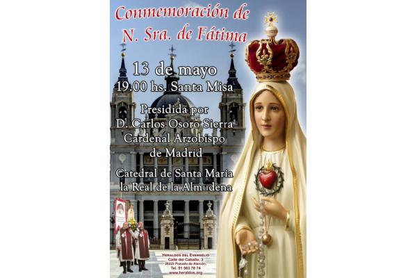 Conmemoración de Nuestra Señora de Fátima. 13 de Mayo 2019