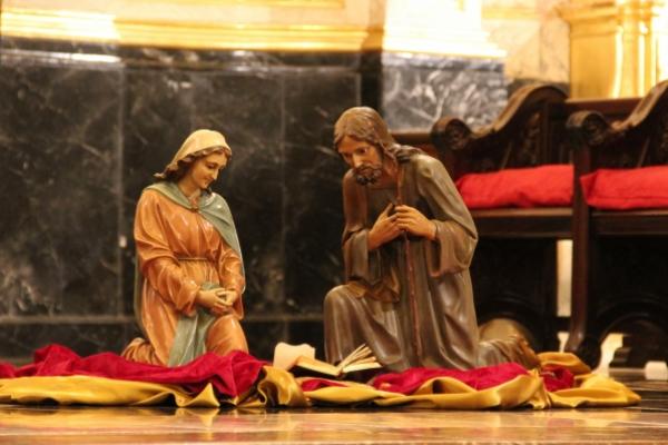 Convención en Bilbao. San José y María en el Nacimiento del Niiño Jesús