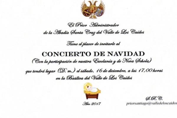 invitación concierto de navidad