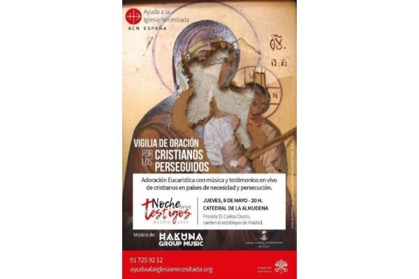 Cardenal arzobispo de Madrid, D. Carlos Osoro. Noche de los testigos, jueves, 9 de Mayo 2019