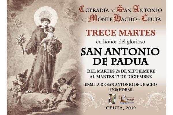 Trece marts de San Antonio de Padua. Ermita de San Antonio del Hacho, Ceuta