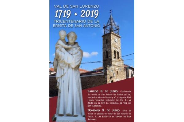 Tricentenario de la Ermita de San Antonio de Padua en Val de San Lorenzo, León 1719 - 2019