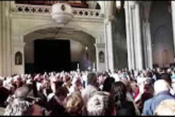 Vírgen de Fátima en la Catedral de la Almdena, Madrid