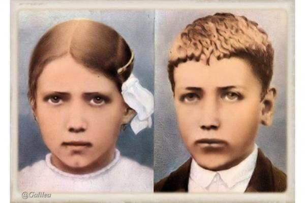 San Francisco y Santa Jacinta Marto, videntes de la Virgen de Fátima