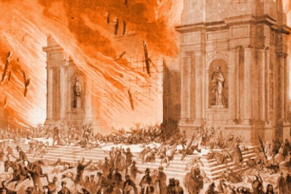 La hoguera que conmovió a Chile en el día de la Inmaculada de 1863