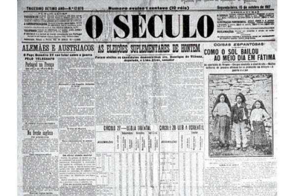 centenario del milagro del sol, fátima