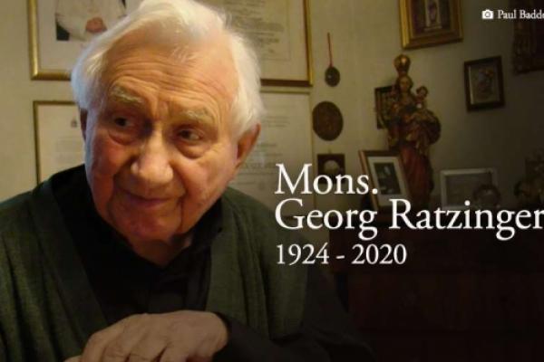 Georg Ratzinger, hermano de Benedicto XVI, ya descansa en paz
