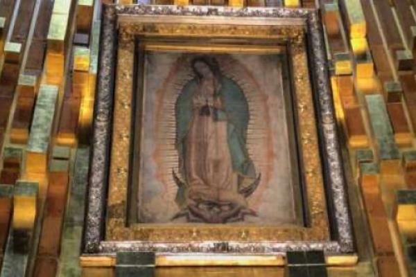 La única reliquia de la imagen original de la Virgen de Guadalupe se encuentra en Los Ángeles