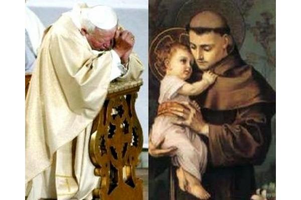 Semejanzas entre San Juan Pablo II y San Antonio de Padua