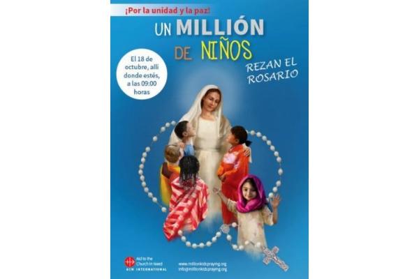 Un millón de niños rezan el Rosario
