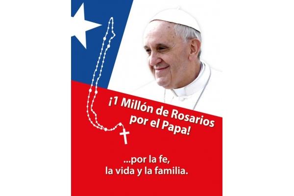 Superan la meta de un millón de Rosarios por el Papa, la vida y la familia en Chile