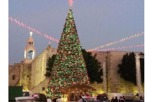 Inicio de la preparación para la Navidad en Belén