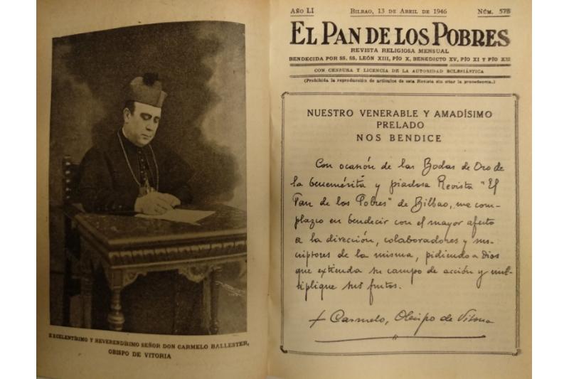 El Pan de los Pobres. 50 Años el 13 de Abril 1946