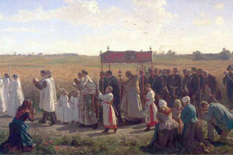 La bendición de los campos de trigo en Artois