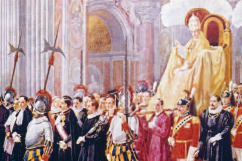 Cortejo Papal en la Basílica de San Pedro