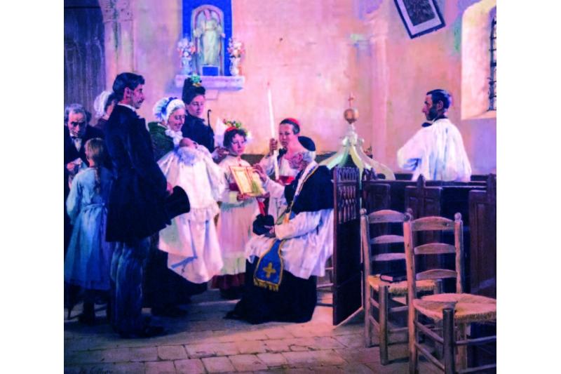 Bautizo en Vattetot-sur-Mer. Éduard Gelhay (1856-1939) Museo de Morlaix, Francia