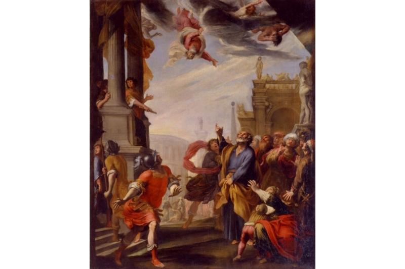 Caída de Simón el Mago. Giovanni Battista Carlone, 1603-1684