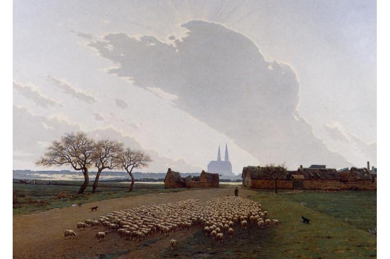 Campos de Cartres. Alexandre Ségé (1816-1885) Museo de la Catedral de Chartres, Francia
