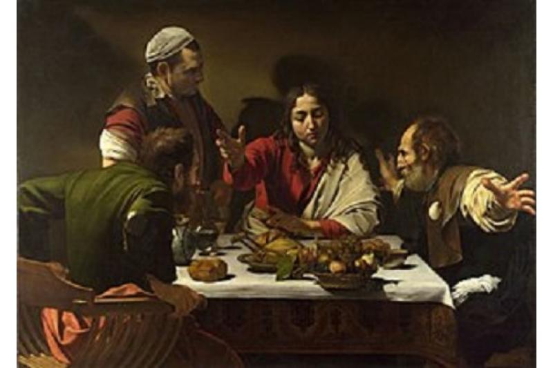 Cena de Emaús. Caravaggio, 1602. Galería Nacional de Londres