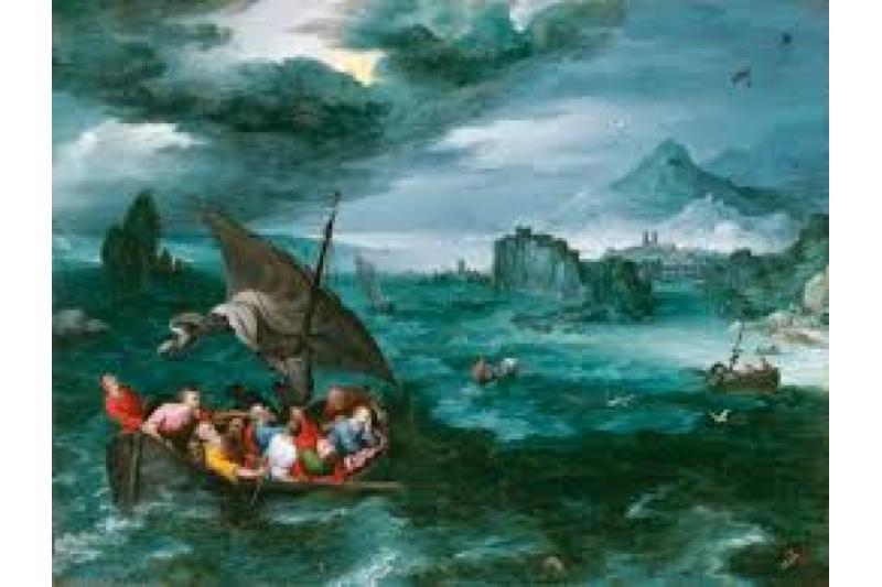 Cristo en la tempestad del mar de Galilea, 1596