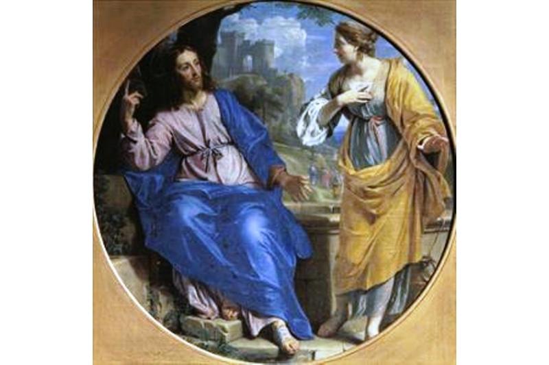 Cristo y la samaritana en el pozo, 1648. Philippe de Champaigne. Museo Bellas Artes de Caen, Francia