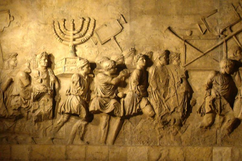 Destrucción de Jerusalén. Relieve interior del arco de Tito, Roma