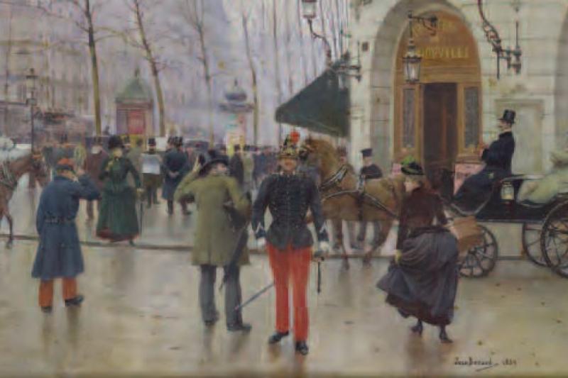 El boulevard de los Capuchinos y el Teatro Vaudeville
