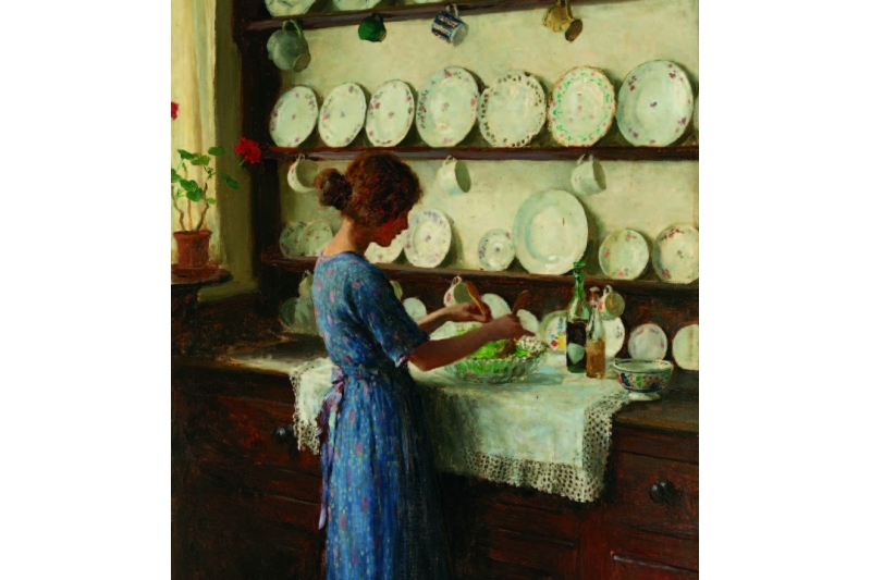 El ama de casa. William Henry Margetson (1861-1940)