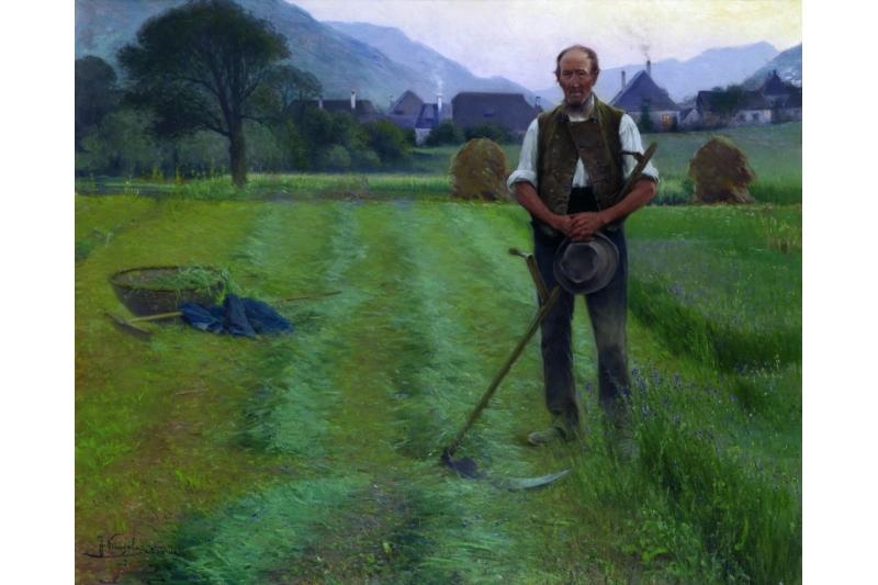 El Ángelus-las campanas de la tarde. Josef Kinzel, 1903