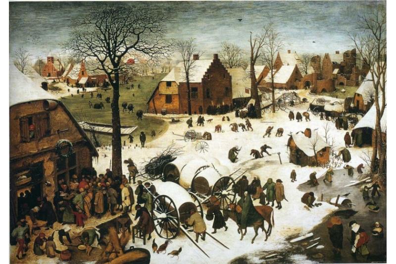 El censo en Belén. Pieter Brueghel, el Viejo (1566). Museos Reales de Bellas Artes de Bruselas, Bélgica