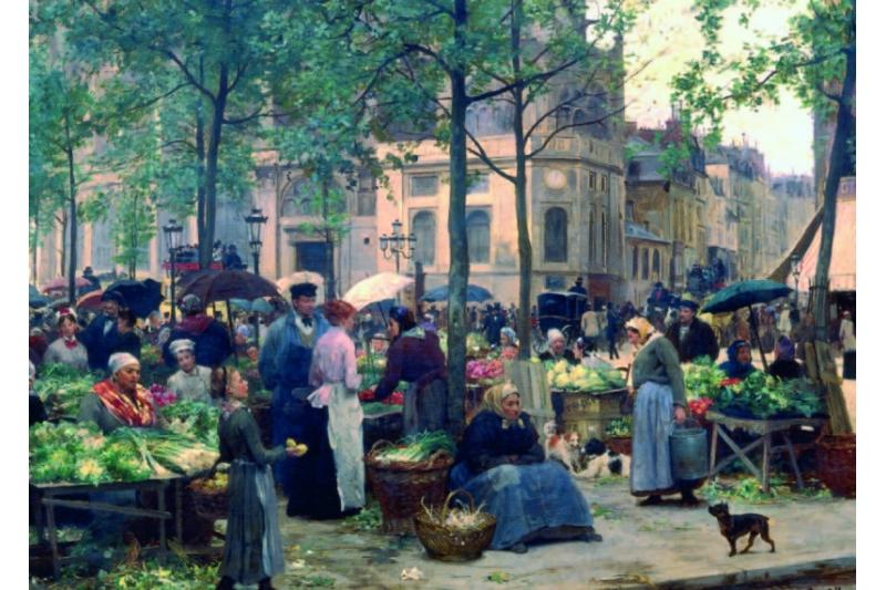 El mercado de Les Halles, París. Museo Malraux. Le Havre (Francia)
