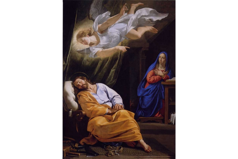 El sueño de José. Philippe de Champaigne, vers 1642. The National Gallery, Londres.