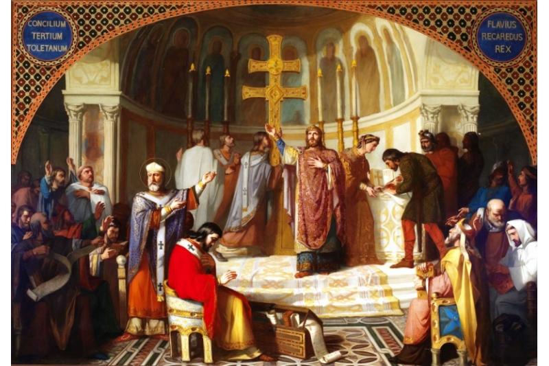 En el año 589 Recaredo convoca el III Concilio de Toledo.