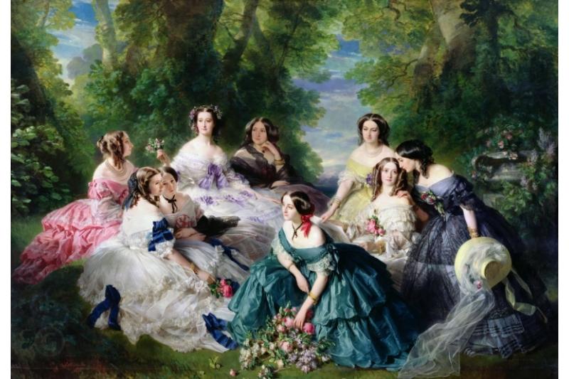 Eugenia, emperatriz de los franceses y sus damas de compañía