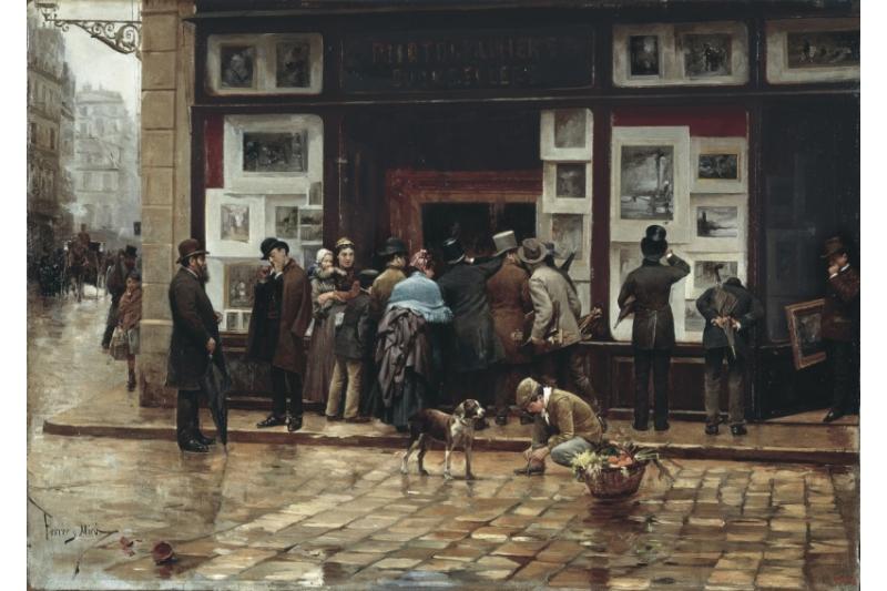 Exposición pública de un cuadro