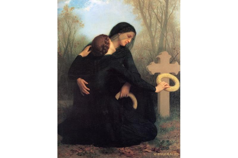 Fieles Difuntos - 2 de Noviembre - William Adolphe Bouguereau 1825-1905 - The day of the dead - 1859