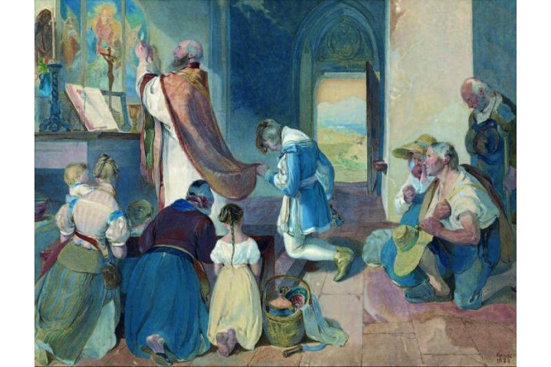 """Hoc est enim corpus meum"" - Peter Fendi, 1833 - Getty Museum, Los Ángeles (EEUU)"