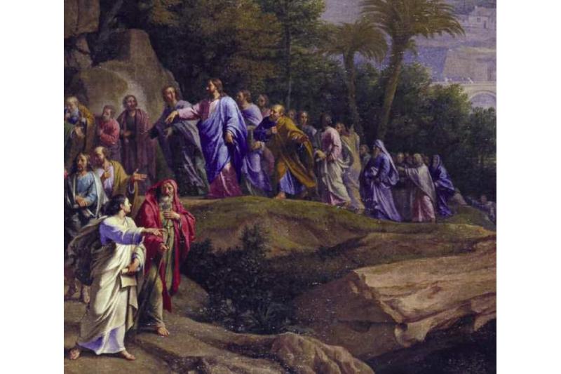 Jesucristo y la fundación de la Iglesia. Paisaje con Jesús y sus discípulos. Philippe de Champaigne 1660. Museo Timken Art. San Diego (EEUU).