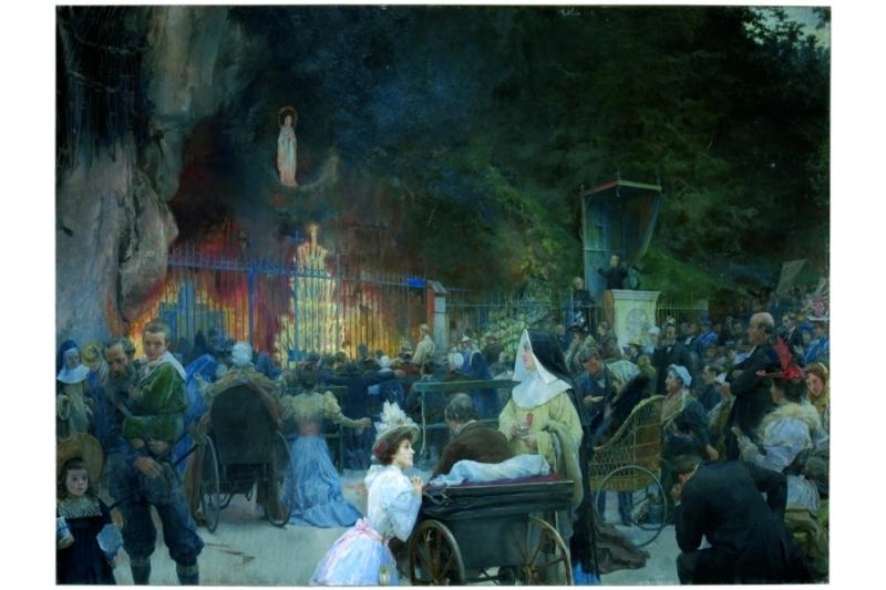 La Salve en a gruta de Lourdes 1897. Museo del Prado (Depositado diputación de Zamora)