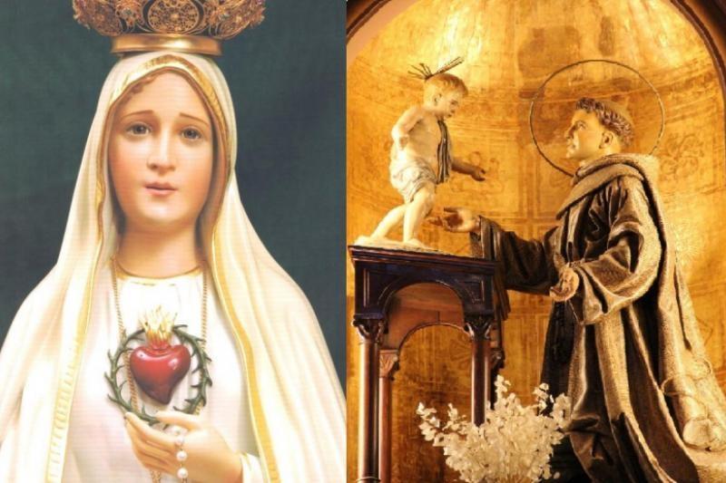 La Virgen de Fátima y San Antonio de Padua