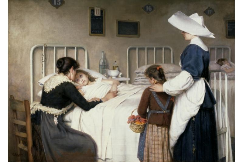 La visita de la madre al hospital