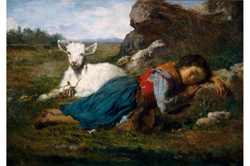 Las dos amigas. Joaquín Agrasot y Juan, 1866. Museo del Prado. Madrid