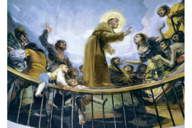 Milagro del testigo resucitado. Francisco Goya