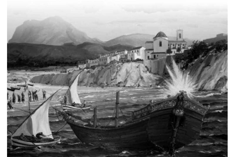 Óleo de Miguel Ribes Segorb, 1983. Capilla de la Virgen. Parroquia de San Jaime y Santa Ana, Benidorm